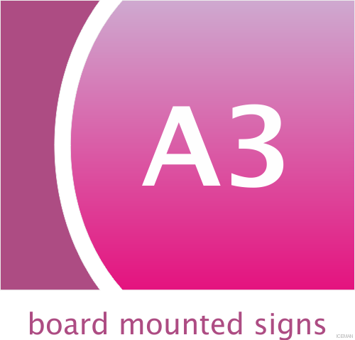 A3 Board Mounted Signs
