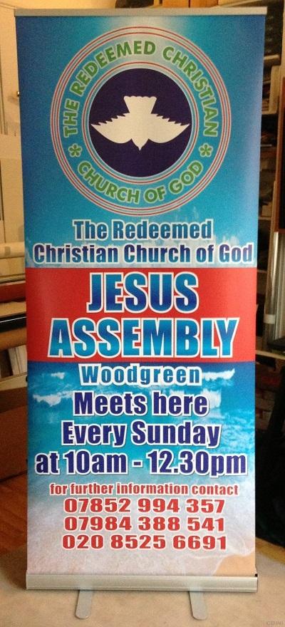 iceman roller banner stand Redeemed Christian Church