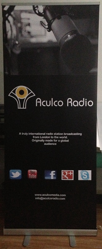 iceman roller banner stand - Aculco Radio
