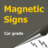 iceman car magnetic signs