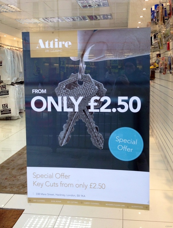 paper poster Attire key cut service