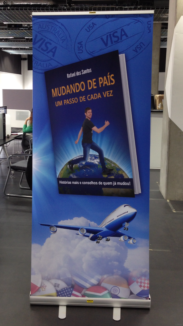 iceman roller banner stand Moving Abroad in Portuguese by Rafael Dos Santos