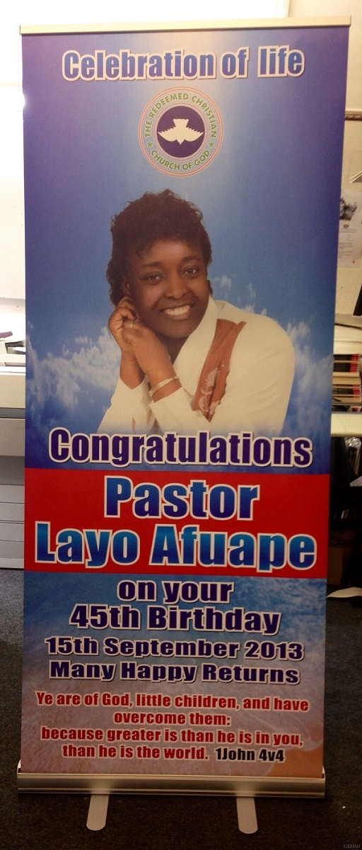 iceman roller banner stand - Pastor Lavo Aluape