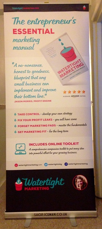 iceman roll-up banner stand for Bryony Thomas, Watertight Marketing book