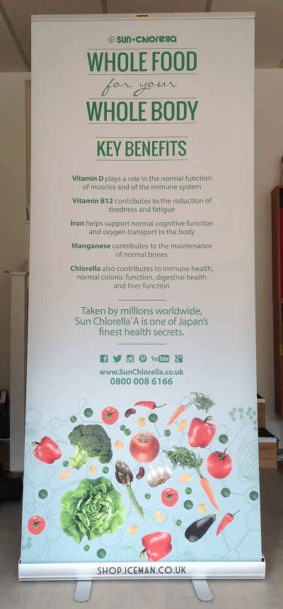 iceman-rollup banner stand-sunchlorella Wholefood