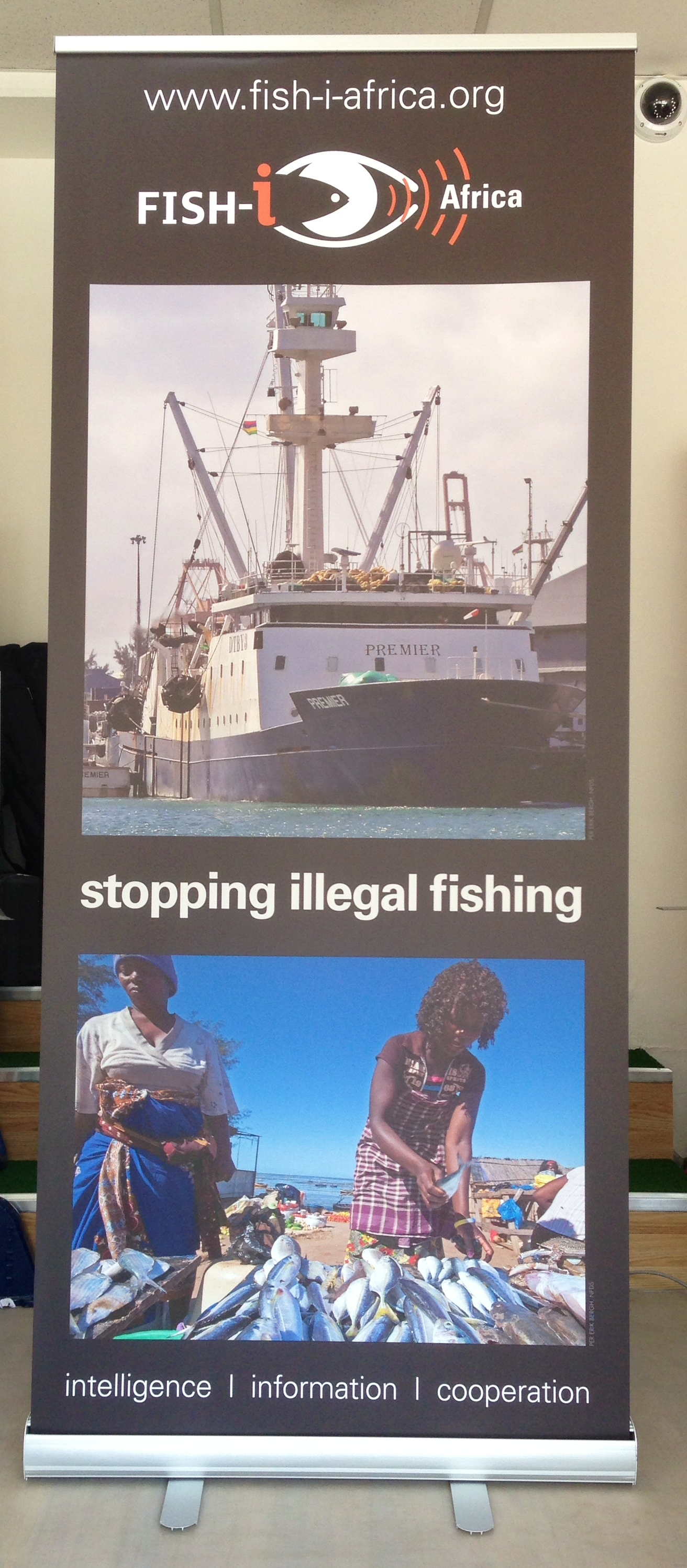 Stop illegal fishing in Africa roller banner stand