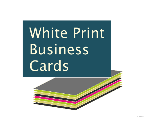 iceman - White Colour Print Business Cards