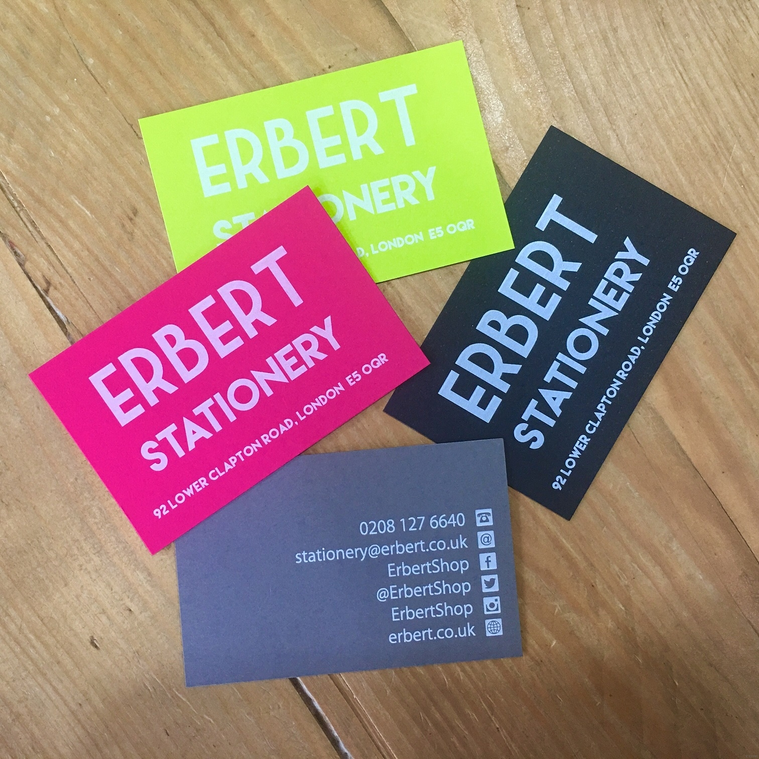 iceman - White Colour Print Business Cards - Erbert Stationery